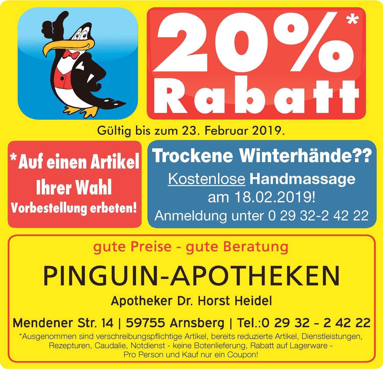 Aktuelles Angebot der Pinguin Apotheke